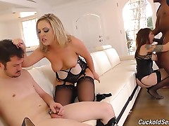 All that white boy talk has the two Black Cock Sluts all riled up, and who better to take out all their white boy frustrations than a Cuckboi who refers to himself as `Fluffy Slave`? After a rather harsh round of humiliation, Carmen tells Gia, `I`ve got a