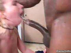Alina West tastes her anal juices from black lover`s big shaft.
