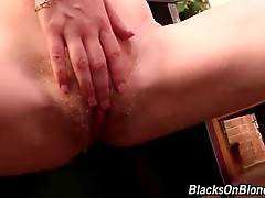 Black Guy Fucks And Creampies White Cutie 3