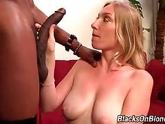 Busty White Chick Sucks Big Black Dick 1